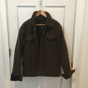 GAP Corduroy Dark Brown Sherpa Lining Jacket